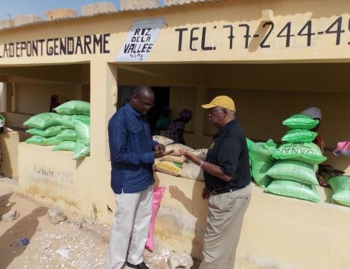 Senegal Dr Garner w rice pic 1