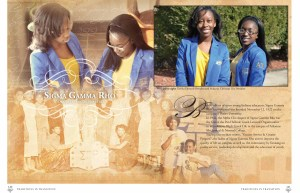 Example of the Greek Life Layout of the 2013-2014 Lion Yearbook