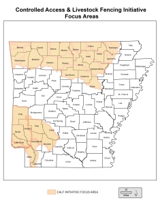 CALF Focus Areas include counties in northwestern and southwestern Arkansas. Applications from the Focus Area will receive higher rankings than proposals from outside the Focus Areas.