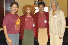 Sheena Meadows, Christ-Shamma Matalbert, Amera Allison, Dr. Carolyn F. Blakely
