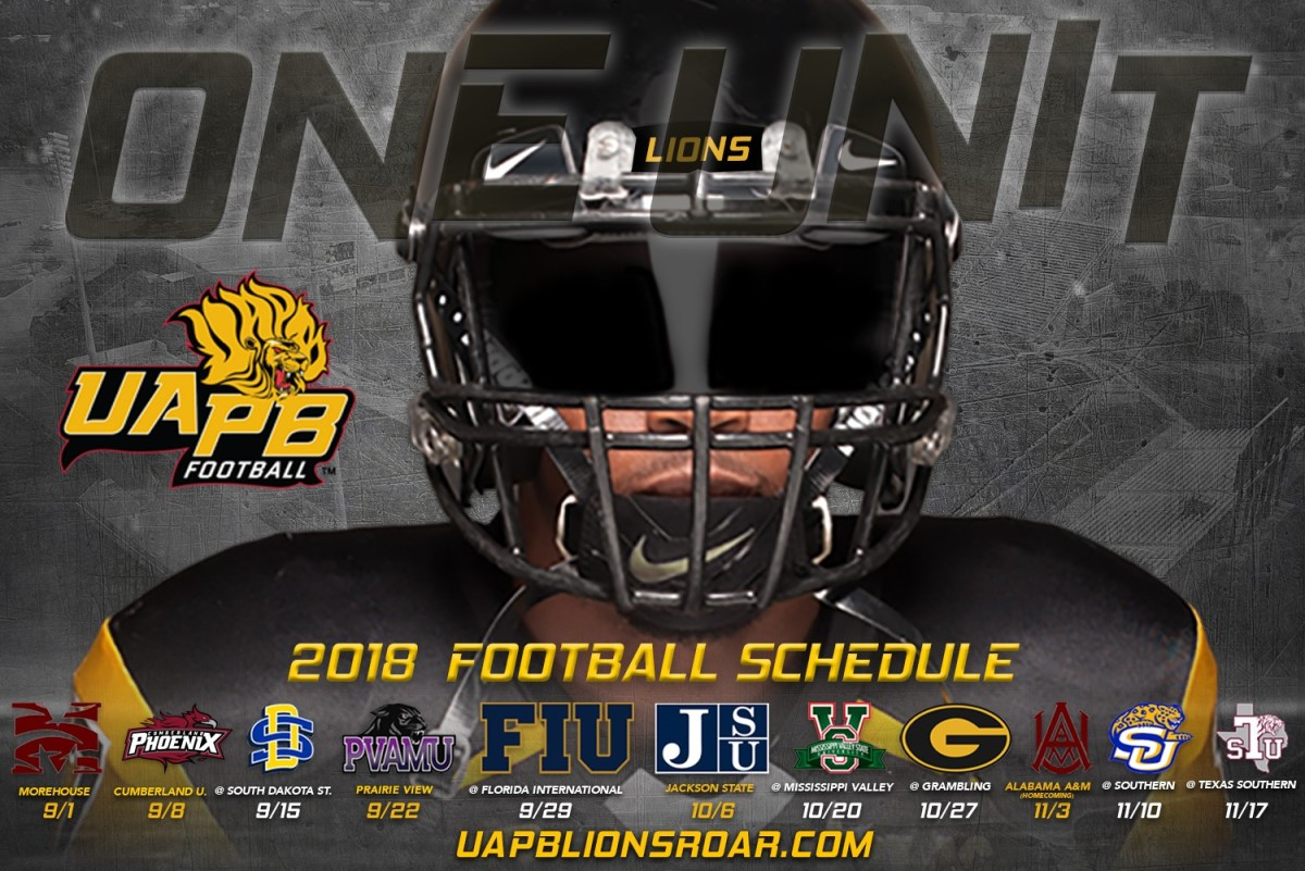 2018 Football Schedule Released Uapb News